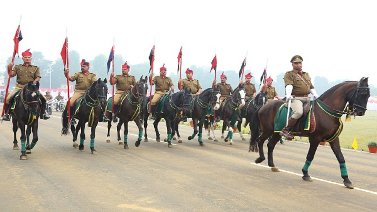 Cavalry in Raitik Police Parade, Police week 2016.