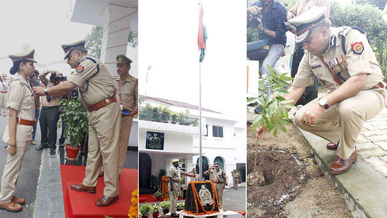 Flag Hoisting and Tree Plantation by DGP UP on 72nd Independence Day 2018
