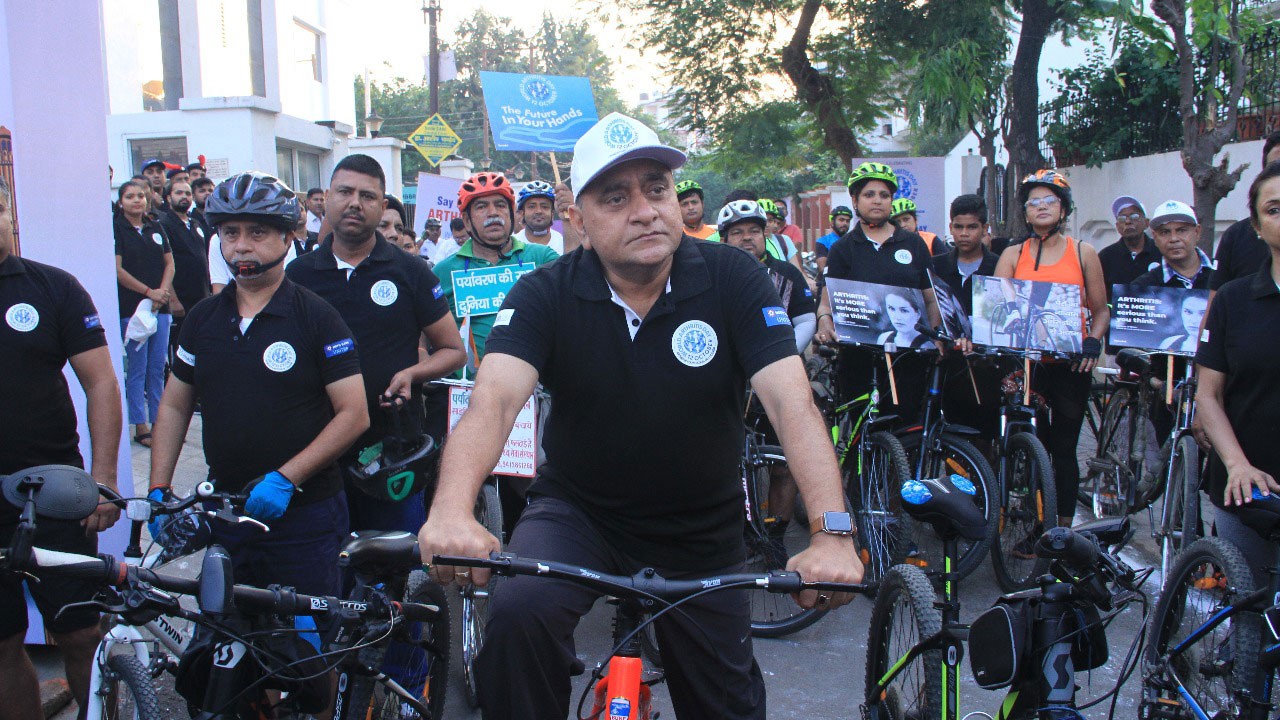 DGP, UP led a cycle rally for health awareness